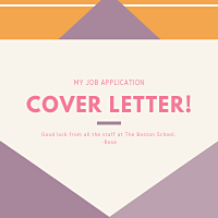 Cover Letter Template The Boston School Zurich